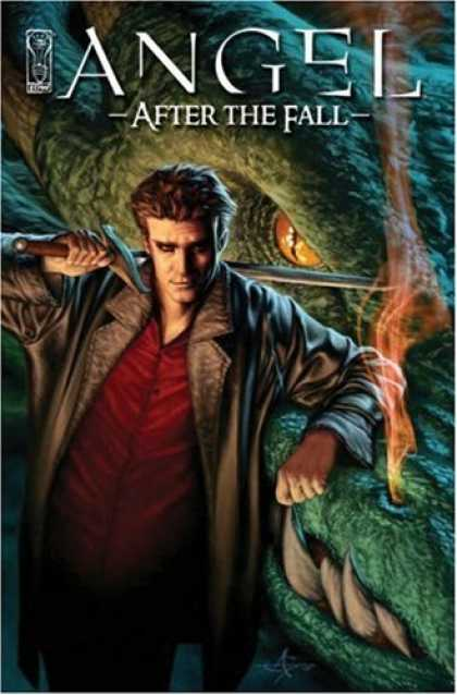 Bestselling Comics (2008) - Angel: After The Fall Volume 1 by Brian Lynch - Dragon - Sword - After The Fall - Smoke And Fire - Leather Coat
