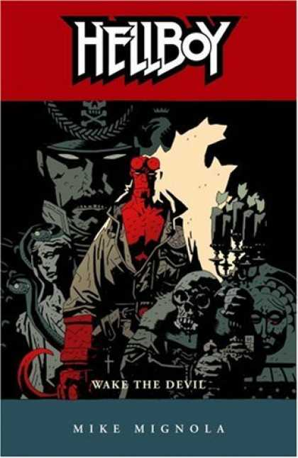 Bestselling Comics (2008) - Hellboy, Vol. 2: Wake the Devil (v. 2) by Mike Mignola - Creature - Red Devil - Action - Skull - Pirat