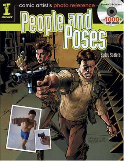 Bestselling Comics (2008) - Comic Artist's Photo Reference - People & Poses: Book/CD Set with 1000+ Color Im - Man - Woman - Gun - Wall - Room