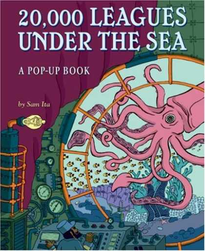Bestselling Comics (2008) - 20,000 Leagues Under the Sea: A Pop-Up Book (Pop Up Book) by Sam Ita - Octopus - A Pop-up Book - Sam Ita - Illuminator - Man