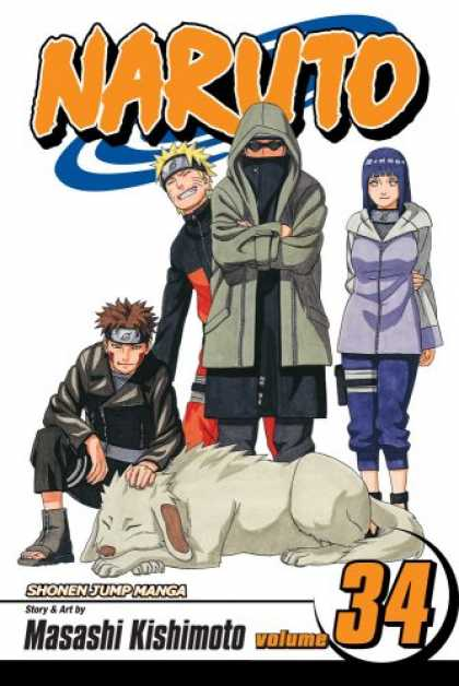 Bestselling Comics (2008) - Naruto, Volume 34: Naruto (Naruto (Graphic Novels)) (v. 34) - Masashi Kishimoto - Shonen Jump Manga - One Girl Standing - One Boy Sitting - One Dog