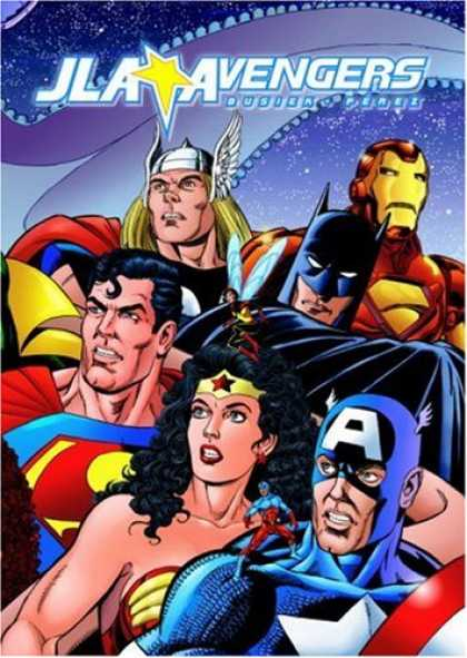 Bestselling Comics (2008) - JLA/Avengers (DC and Marvel Comics) by Kurt Busiek - Superhero - Batman - Ironman - Costumes - Superman