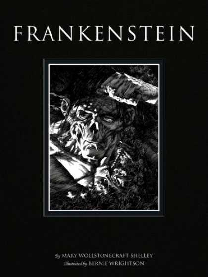 Bestselling Comics (2008) - Bernie Wrightson's Frankenstein by Mary Wollstonecraft Shelley - Agly Man - Black Hair - Black And White - Bernie Wrightson - Hand
