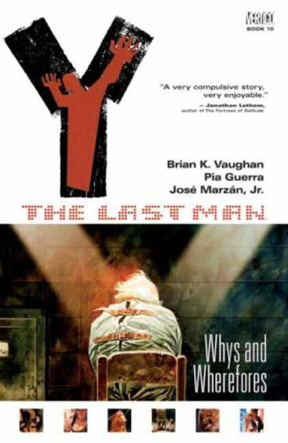 Bestselling Comics (2008) - Y: The Last Man, Vol. 10: Whys and Wherefores by Brian Vaughan - Whys And Wherefores - Strait Jacket - Chair - Stone Wall - Last Man