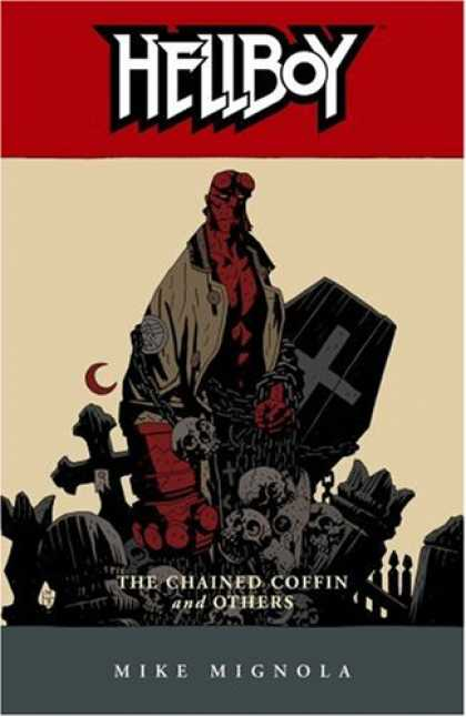 Bestselling Comics (2008) - Hellboy, Vol. 3: The Chained Coffin and Others (v. 3) by Mike Mignola - Hellboy - Mike Mignola - Graveyard - Chains - Skulls