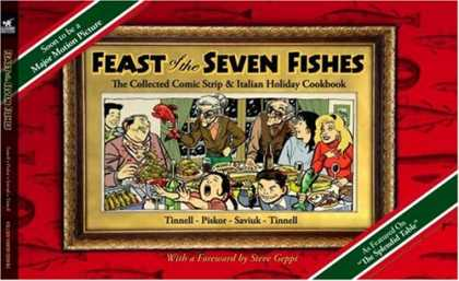 Bestselling Comics (2008) - Feast of the Seven Fishes: The Collected Comic Strip and Italian Holiday Cookboo - Tinnell - Crying Child - Family Dinner - Red Fish - Red Dress
