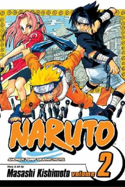 Bestselling Comics (2008) - Naruto, Volume 2 - Naruto - Volume 2 - Pink Hair - Swords - Head Bands