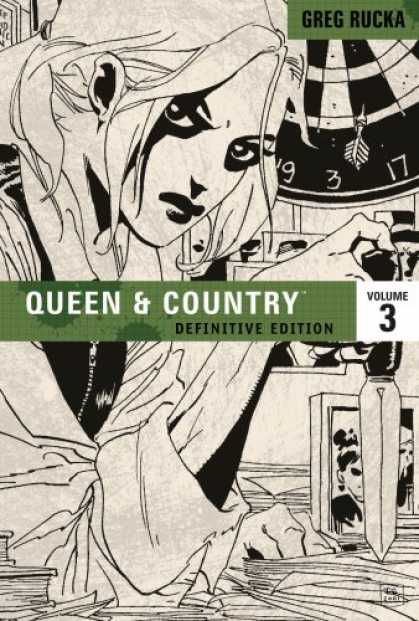 Bestselling Comics (2008) - Queen & Country: The Definitive Edition, Vol. 3 (v. 3) by Greg Rucka - Greg Rucka - Black And White - Girl - Dart Board - Volume 3