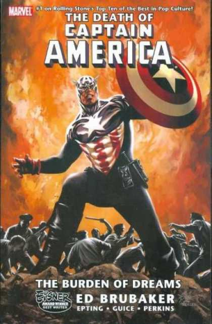 Bestselling Comics (2008) - The Death of Captain America, Vol. 2: The Burden of Dreams (v. 2) by Ed Brubaker - The Burden Of Dreams - Ed Brubaker - Epting - Guice - Perkins