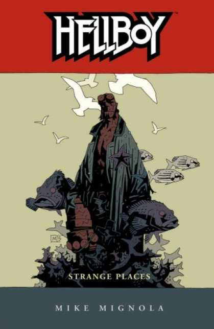 Bestselling Comics (2008) - Hellboy, Vol. 6 : Strange Places (v. 6) by Mike Mignola - Fish - Birds - Big Hand - Man - Red