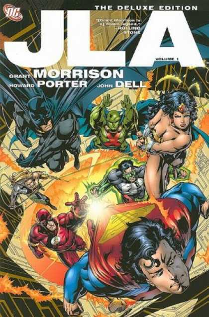 Bestselling Comics (2008) - JLA, Vol. 1 (Deluxe) by Grant Morrison