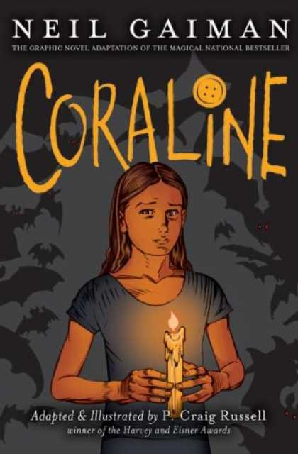 Bestselling Comics (2008) - Coraline Graphic Novel by Neil Gaiman