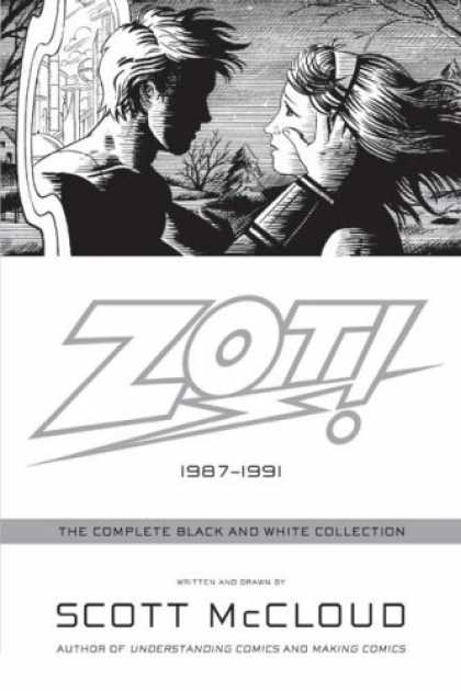 Bestselling Comics (2008) - Zot!: The Complete Black and White Collection: 1987-1991 by Scott Mccloud - Lovers - Blond Hair - Black And White - Night - Future