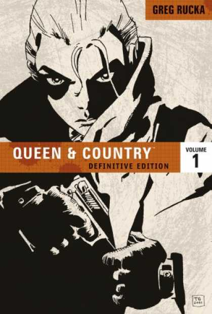 Bestselling Comics (2008) - Queen & Country: The Definitive Edition, Vol. 1 by Greg Rucka - Greg Rucka - Definitive Edition - Gun - Serious - Inside