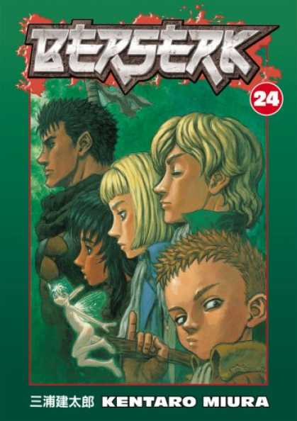 Bestselling Comics (2008) - Berserk Volume 24 (Berserk (Graphic Novels)) (v. 24) by Kentaro Miura - Kentaro Miura - Issue Number 24 - 5 People On The Front - Small Boy Close To Right Corner - 2 Blondes In The Picture