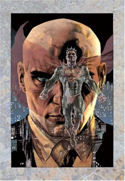 Bestselling Comics (2008) - Lex Luthor: Man of Steel (Superman) by Brian Azzarello - Superhero - Cape - Bald Head - Man - Blue Eyes