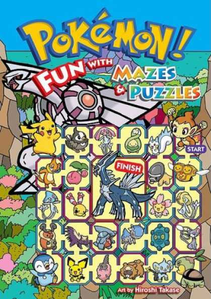 Bestselling Comics (2008) - Pokémon: Fun With Mazes & Puzzles - Pikachu - Monkey - Bird - Colorful - Grid