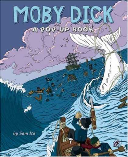 Bestselling Comics (2008) - Moby-Dick: A Pop-Up Book by Sam Ita - Sea - Big Fish - Ship - Water - A Pop-up Book