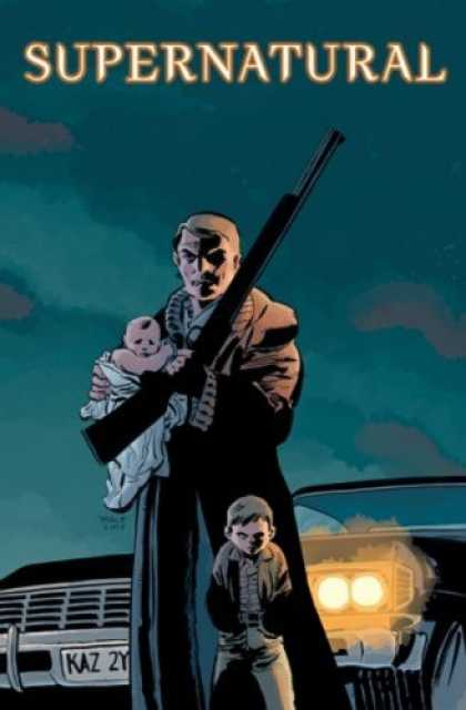 Bestselling Comics (2008) - Supernatural: Origins by Peter Johnson - Supernatural - Baby - Rifle - Car - Trench Coat