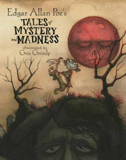 Bestselling Comics (2008) - Edgar Allan Poe's Tales of Mystery and Madness by Edgar Allan Poe - Edgar Allan Poe - Gris Grimly - Red Moon - Dead Trees - Tombstone