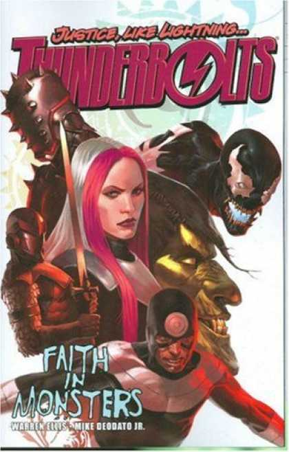 Bestselling Comics (2008) - Thunderbolts, Vol. 1: Faith in Monsters by Warren Ellis - Justice - Thunder - Lightning - Pink - Monster
