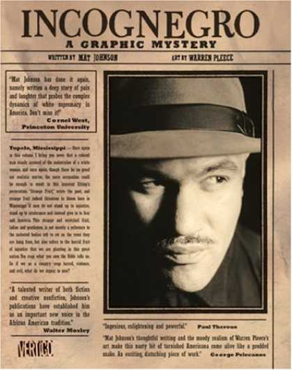 Bestselling Comics (2008) - Incognegro by Mat Johnson - Incognegro - A Graphic - Mystery - Paper - Article