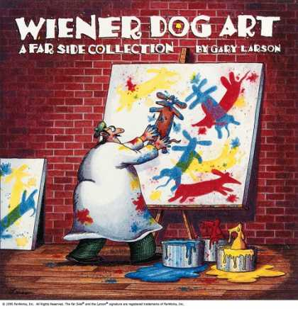 Bestselling Comics (2008) - Wiener Dog Art: A Far Side Collection by Gary Larson - Artist - Colors - Paint - Collection - Dog