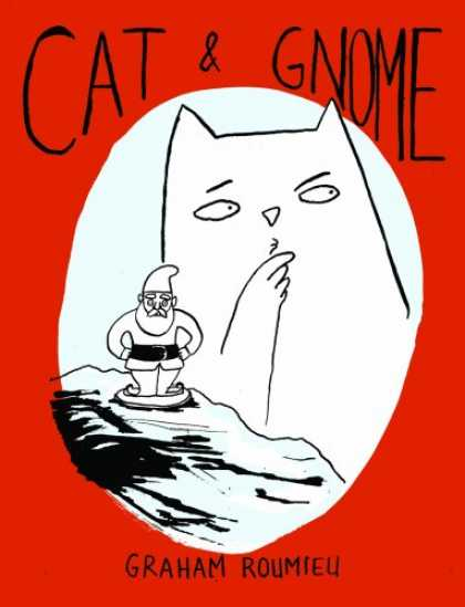 Bestselling Comics (2008) - Cat & Gnome - Graham Roumieu - Red Cover - Gnome - Black White - Cat