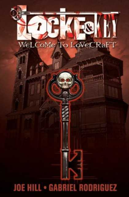 Bestselling Comics (2008) - Locke & Key by Joe Hill - Key - Mansion - Skull - Joe Hill - Gabriel Rodriguez