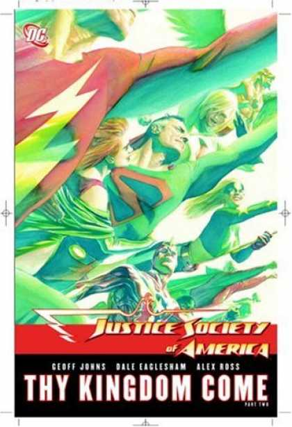 Bestselling Comics (2008) - Justice Society of America: Thy Kingdom Come, Part 2 by Alex Ross - Superman - Thy Kingdom Come - Heroes - The Flash - Flight