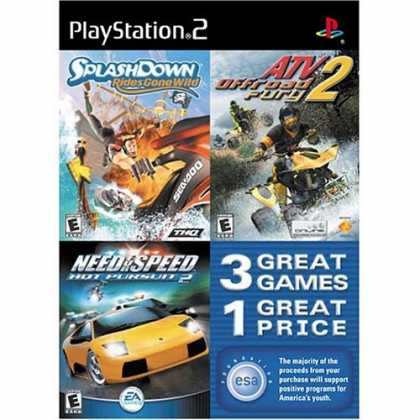 Bestselling Games (2006) - Splashdown Rides Gone Wild, ATV Offroad Fury 2, and Need For Speed Hot Pursuit 2