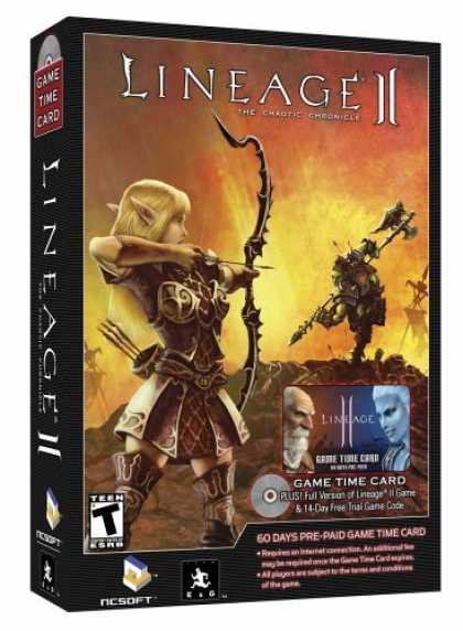 Bestselling Games (2006) - Lineage 2: The Chaotic Chronicle Subscription Card