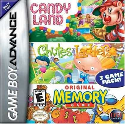 Bestselling Games (2006) - GBA Candyland / Chutes & Ladders / Memory