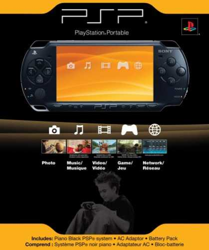 Bestselling Games (2007) - Sony PSP 2000 Console - Piano Black