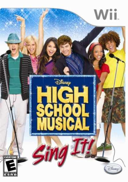 Bestselling Games (2007) - Disney's High School Musical: Sing It Bundle with Microphone
