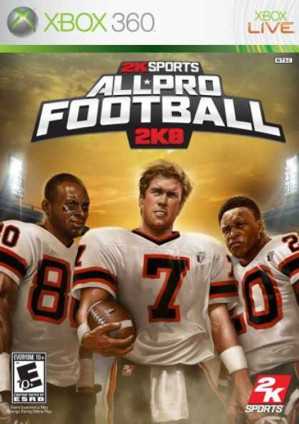 Bestselling Games (2007) - All Pro Football 2K8