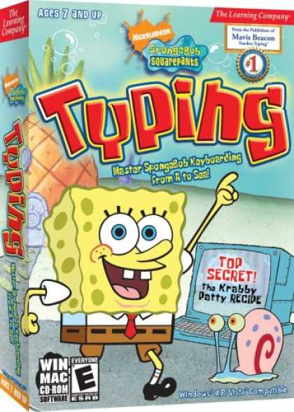 Bestselling Games (2007) - SpongeBob Squarepants Typing 2008 Win/Mac
