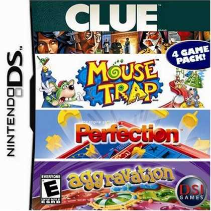 Bestselling Games (2008) - Clue/Mouse Trap/Perfection/Aggravation