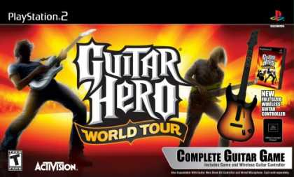 Bestselling Games (2008) - PlayStation 2 Guitar Hero World Tour - Guitar Kit