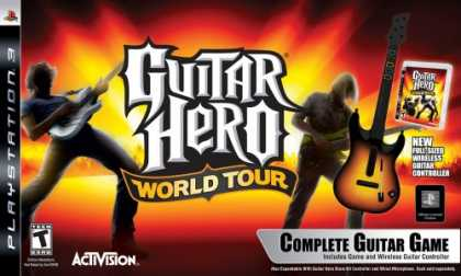 Bestselling Games (2008) - PlayStation 3 Guitar Hero World Tour - Guitar Kit