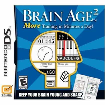Bestselling Games (2008) - Brain Age 2: More Training in Minutes a Day!