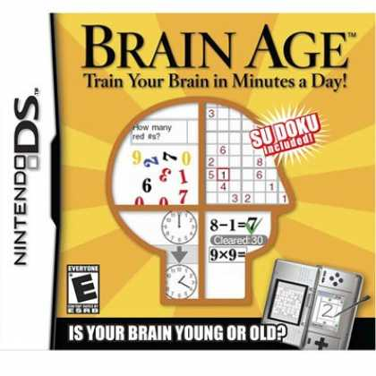 Bestselling Games (2008) - Brain Age: Train Your Brain in Minutes a Day!