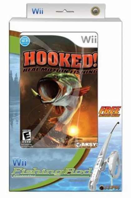 Bestselling Games (2008) - Wii Hooked! Real Motion Fishing w/controller