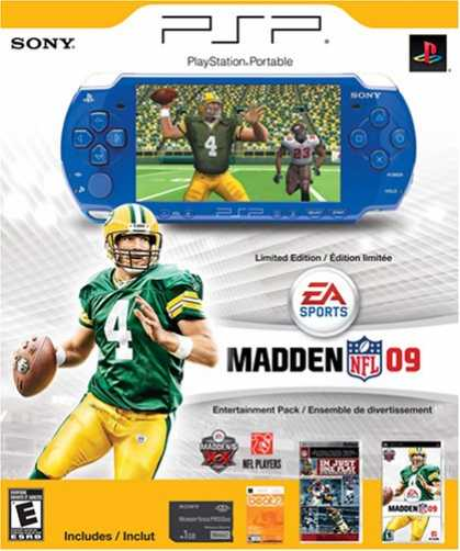 Bestselling Games (2008) - PSP Limited Edition Madden NFL 09 Entertainment Pack - Blue