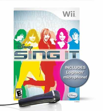 Bestselling Games (2008) - Wii Disney Sing It Bundle with Microphone
