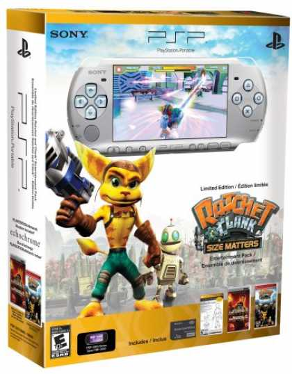 Bestselling Games (2008) - PSP 3000 Limited Edition Ratchet and Clank Entertainment Pack - Silver