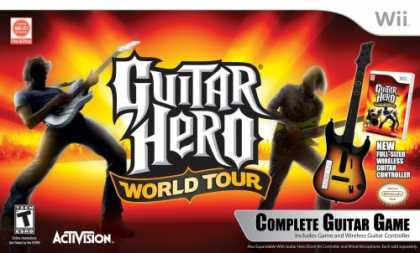 Bestselling Games (2008) - Nintendo Wii Guitar Hero World Tour - Guitar Kit