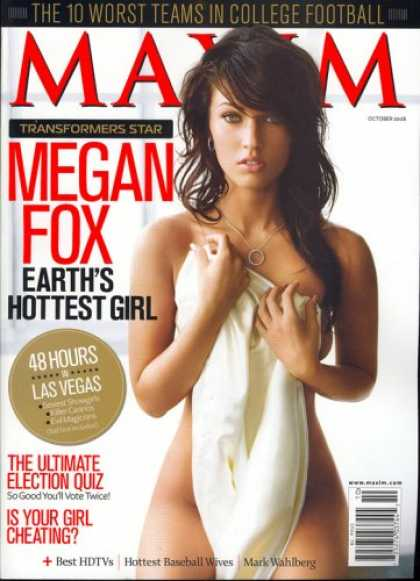 Bestselling Magazines (2008) - Maxim, October 2008 Issue