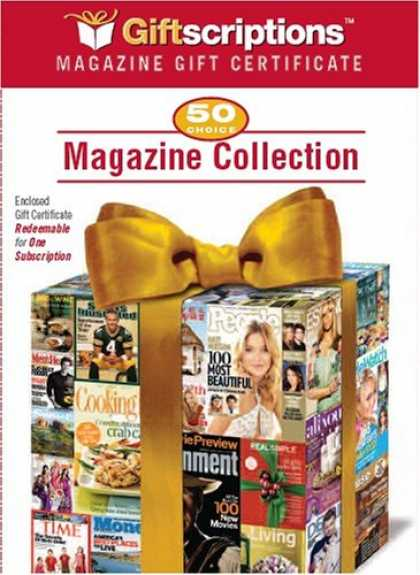 Bestselling Magazines (2008) - Giftscriptions Magazine Gift Certificate: 50 Choice Magazine Collection
