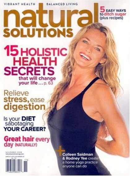 Bestselling Magazines (2008) - Natural Solutions: Vibrant Health Balanced Living